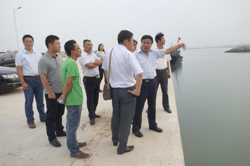 山东日照市海洋与渔业局局长崔久成调研渔港环境整治和渔港经济区建设